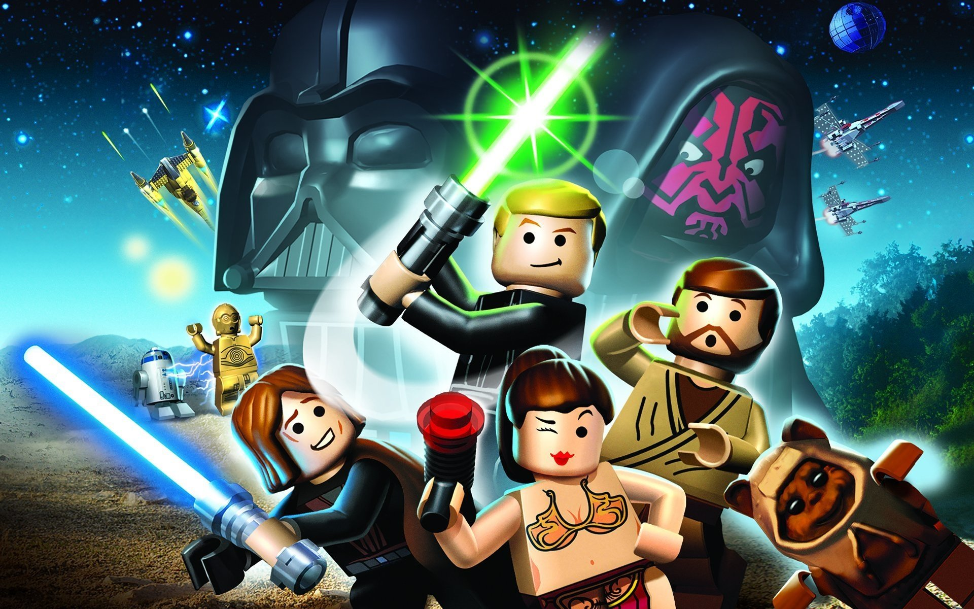 1 Lego Star Wars The Complete Saga Hd Wallpapers Background Images Wallpaper Abyss