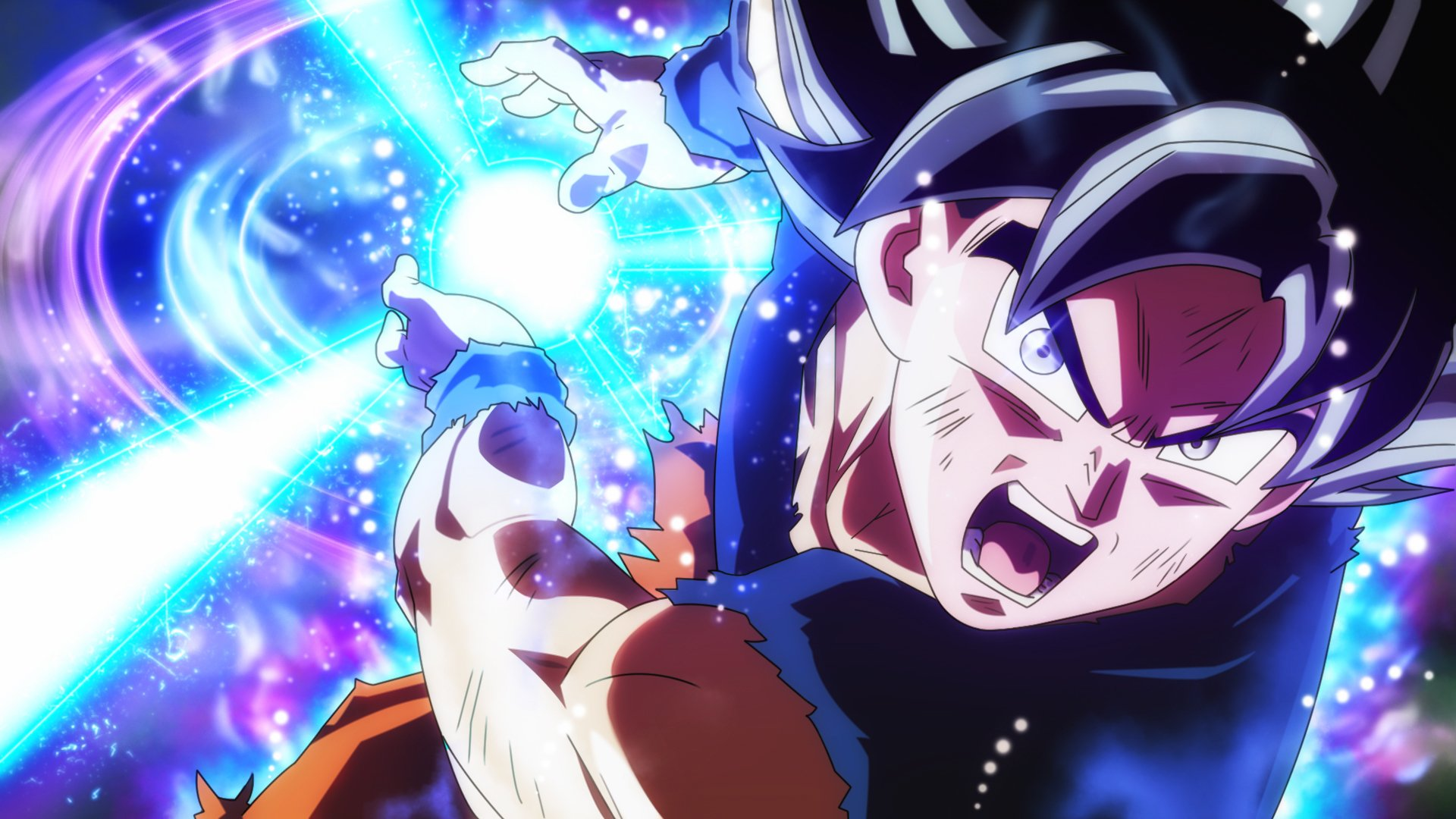 Goku Ultra Instinct Wallpaper 1080p: Ultra Instinct Goku Vs Kefla Universal Kamehameha HD