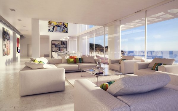 Man Made Room Living Room Furniture Sofa HD Wallpaper | Background Image