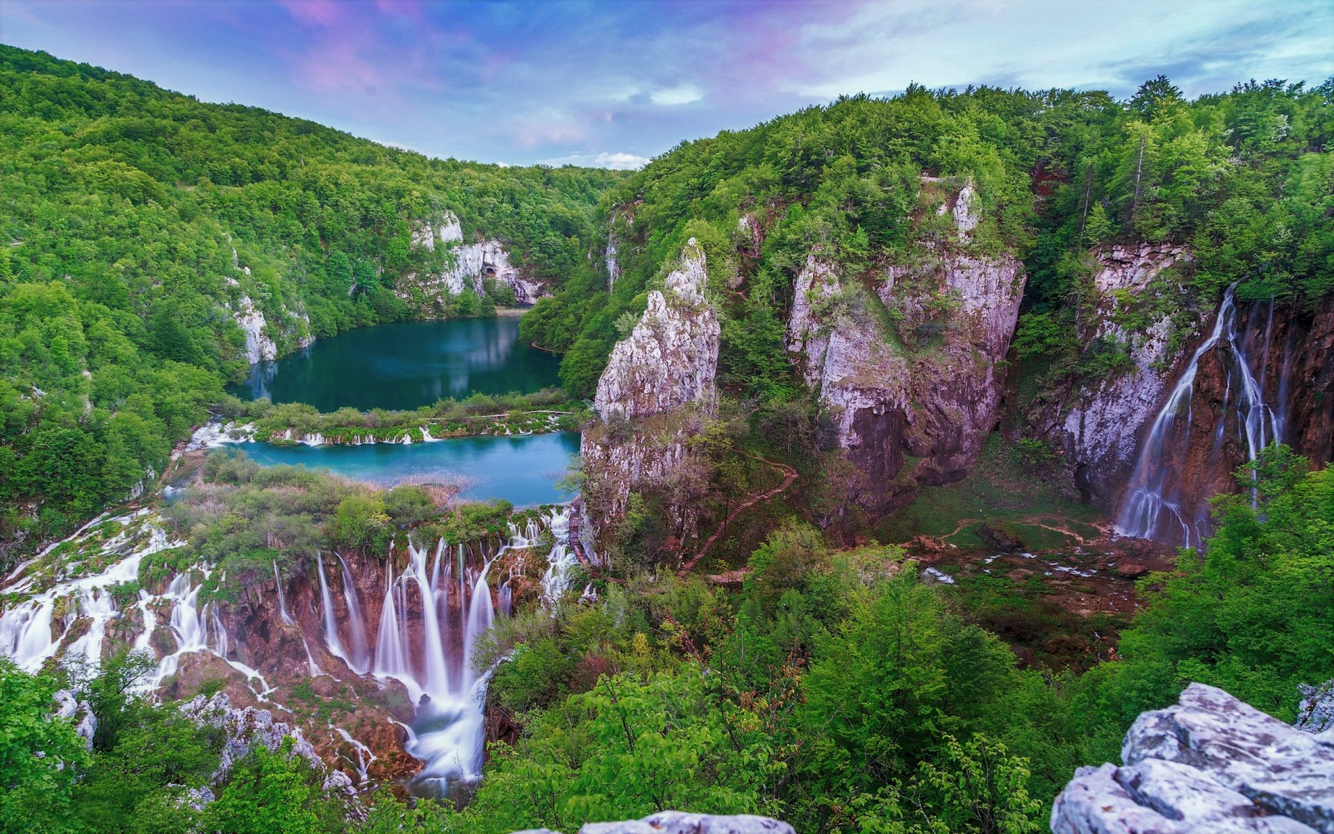 Plitvice falls in croatia hd wallpaper background image 2560x1600 id 903087 wallpaper abyss - Plitvice lakes hd ...