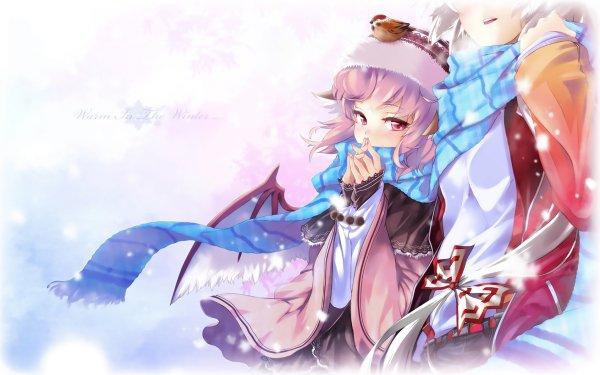 Anime Touhou Mokou Fujiwara Mystia Lorelei HD Wallpaper | Background Image
