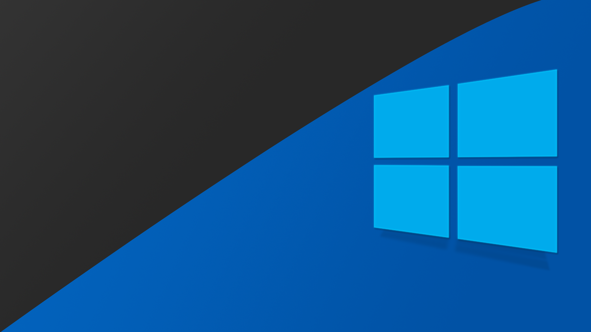 Technology - Windows 10  Black Blue Wallpaper