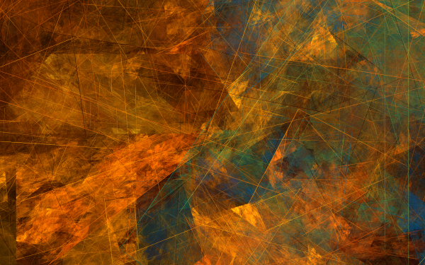 Abstract Fractal Lines Apophysis Geometry HD Wallpaper | Background Image