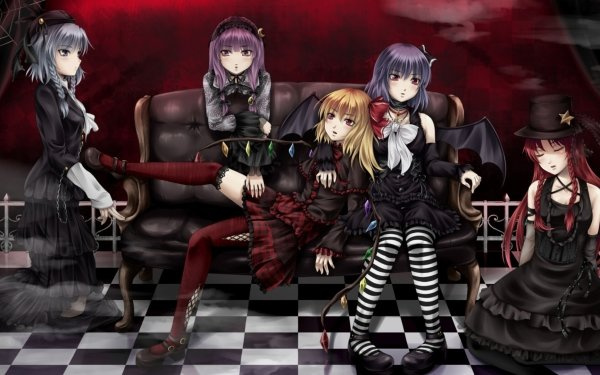 Anime Touhou Gothic Flandre Scarlet Hong Meiling Sakuya Izayoi Patchouli Knowledge Remilia Scarlet HD Wallpaper | Background Image