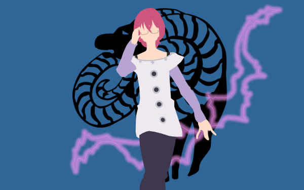 Anime The Seven Deadly Sins Gowther Glasses Pink Hair Minimalist HD Wallpaper | Background Image
