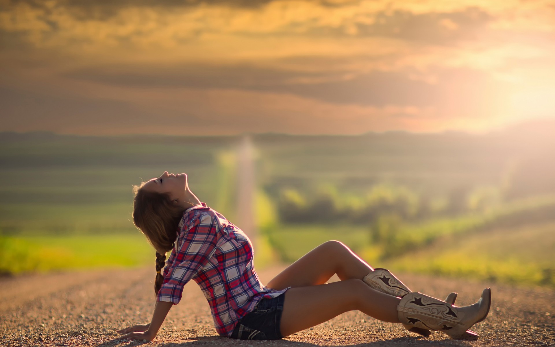 Country Girl Full HD Wallpaper And Background Image