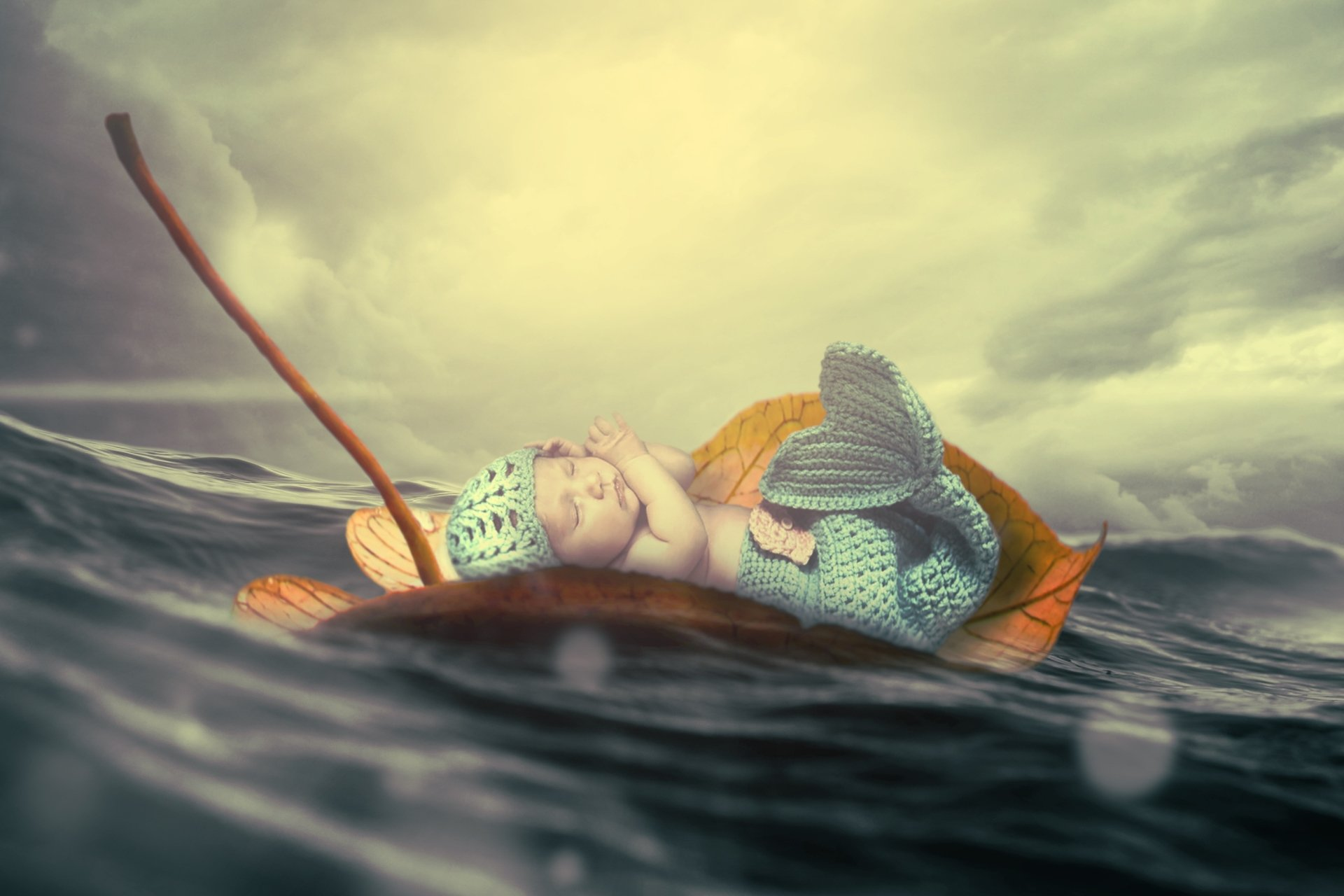 Photography - Manipulation  Baby Ocean Wallpaper