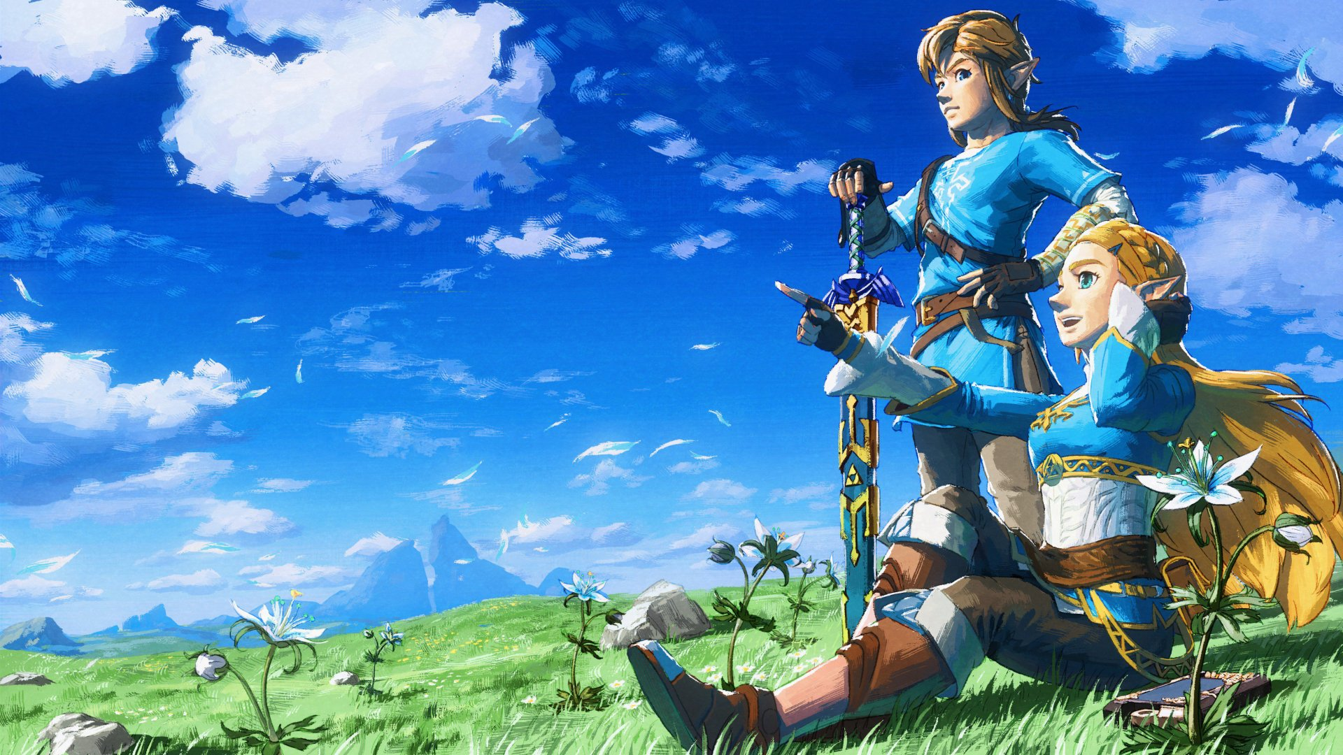 Videospel - The Legend of Zelda: Breath of the Wild  Link Zelda Wallpaper