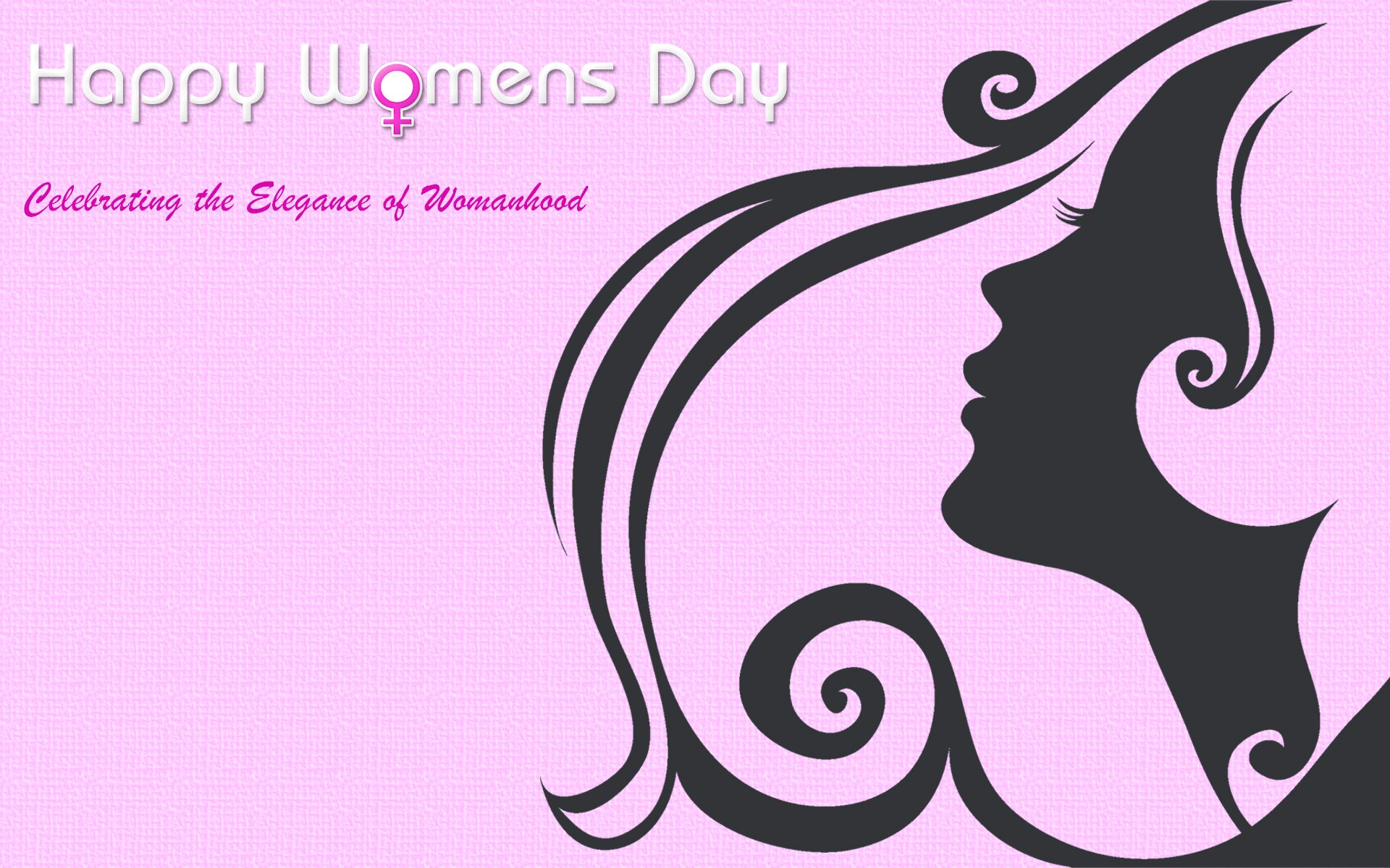 Día festivo - Women's Day  Declaración Happy Women's Day Chica Woman Pink Fondo de Pantalla