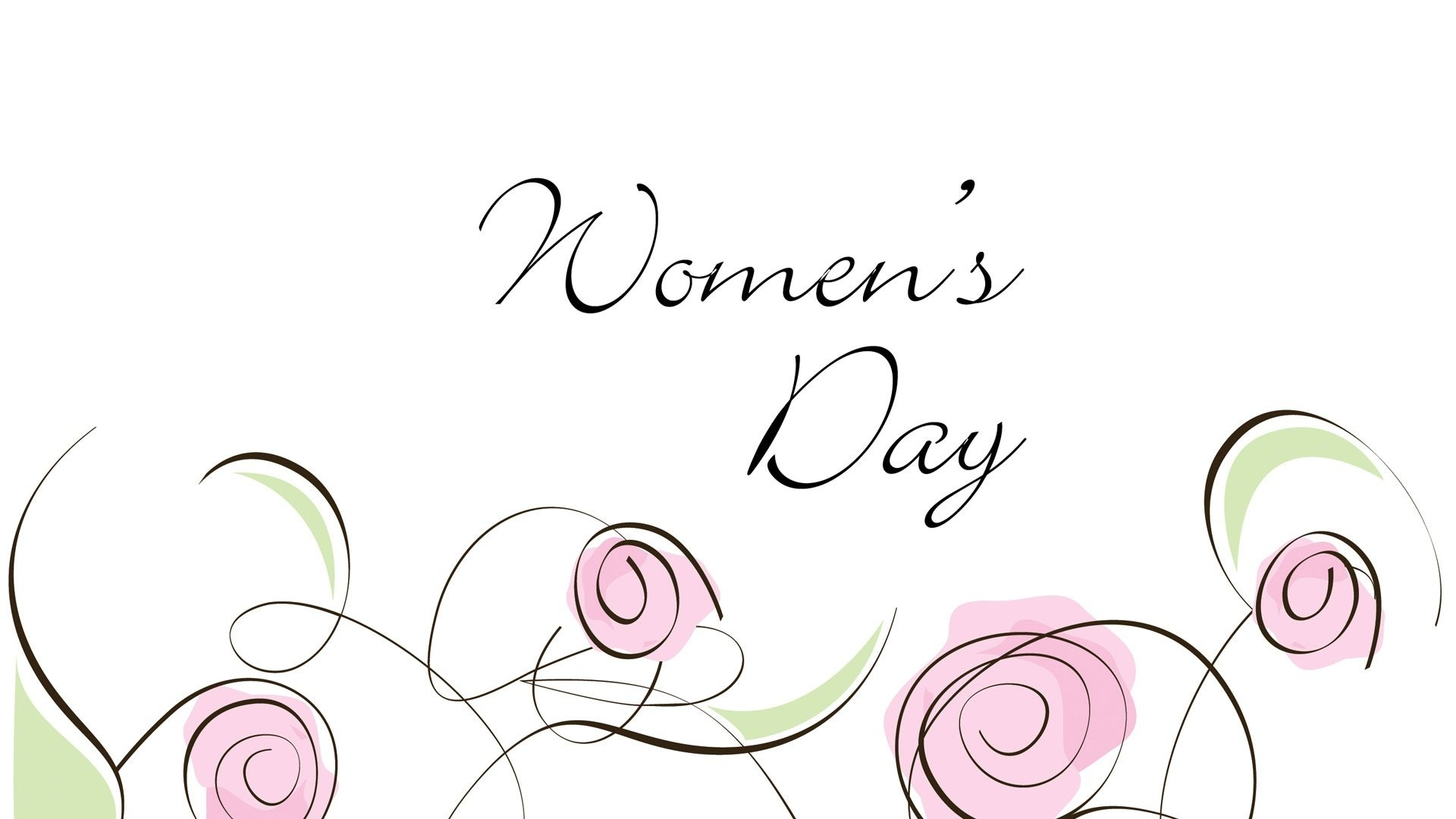 Feiertage - Women's Day  Aussage Minimalist Rose Blume Wallpaper