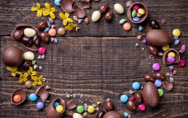 Holiday Easter Chocolate Candy Still Life HD Wallpaper   Background Image
