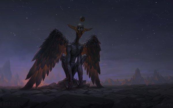 Dark Creature Creepy Wings HD Wallpaper | Background Image