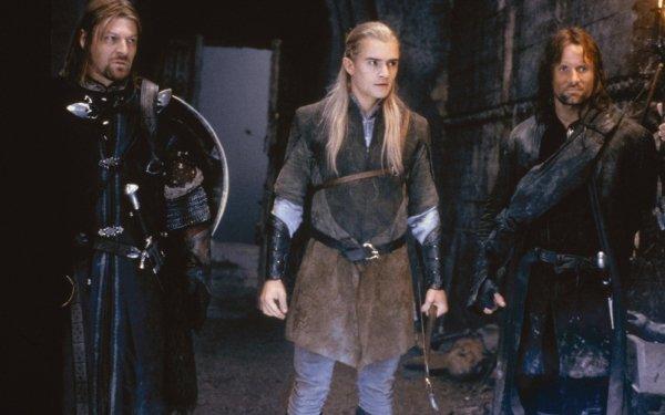 Movie The Lord of the Rings: The Fellowship of the Ring The Lord of the Rings Movies Boromir Legolas Aragorn Sean Bean Orlando Bloom Viggo Mortensen HD Wallpaper | Background Image