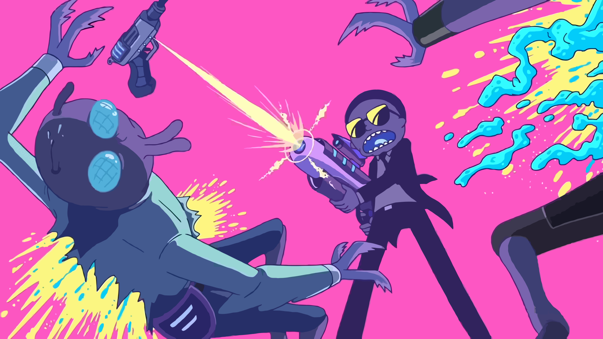 TV Show - Rick and Morty  Run the Jewels Morty Smith Wallpaper