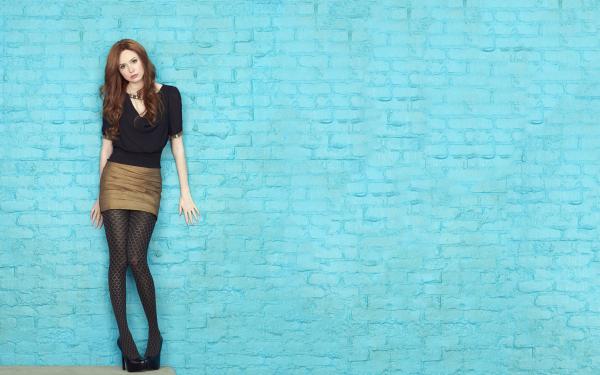 Celebrity Karen Gillan Actresses United Kingdom Scottish Actress Redhead Lipstick Skirt HD Wallpaper   Background Image