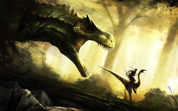 Fantasy Warrior Dinosaur Lance Tyrannosaurus Rex HD Wallpaper   Background Image