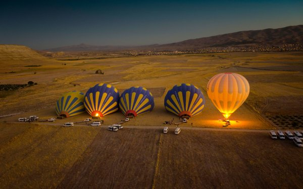 Vehicles Hot Air Balloon Tilt Shift HD Wallpaper | Background Image