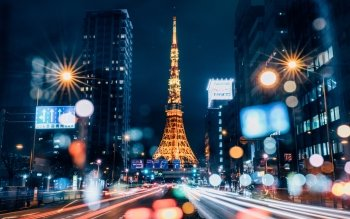 8 Tokyo Tower Hd Wallpapers Background Images Wallpaper