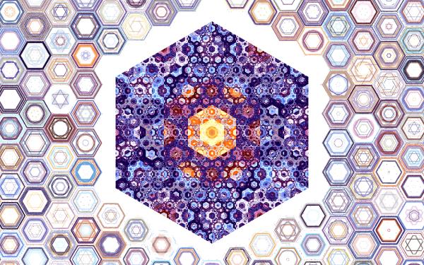 Abstract Fractal Minimalist Hexagon HD Wallpaper | Background Image