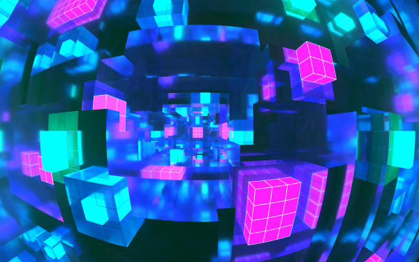 Abstract Cube Voxel HD Wallpaper | Background Image