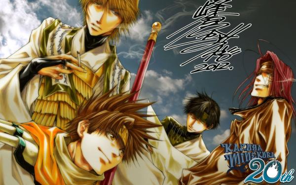 Anime Saiyuki Sha Gojyo Cho Hakkai Goku Genjo Sanzo Fondo de pantalla HD   Fondo de Escritorio