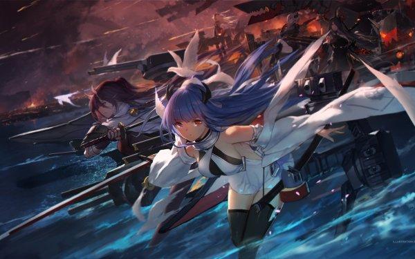 Anime Azur Lane Admiral Hipper Izumo HD Wallpaper | Background Image