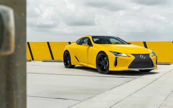 Véhicules Lexus LC 500 Lexus Voiture Yellow Car Sport Car Supercar Fond d'écran HD | Arrière-Plan
