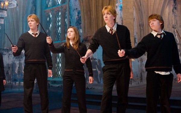 Movie Harry Potter and the Order of the Phoenix Harry Potter Ginny Weasley Ron Weasley Fred Weasley George Weasley HD Wallpaper | Background Image