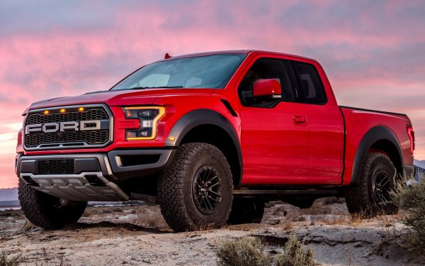 Vehicles Ford F-150 Raptor Ford Ford F-150 Raptor SuperCab Pickup Red Car Car HD Wallpaper | Background Image