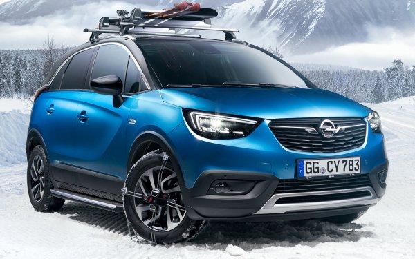 Vehicles Opel Crossland X Opel Subcompact Car Crossover Car SUV Blue Car Car HD Wallpaper | Background Image