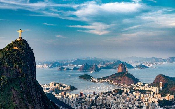 Man Made Rio De Janeiro Cities Brazil Christ the Redeemer HD Wallpaper | Background Image