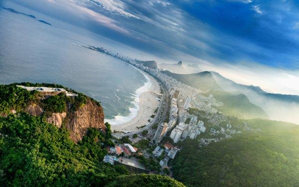 Man Made Rio De Janeiro Cities Brazil Copacabana HD Wallpaper | Background Image