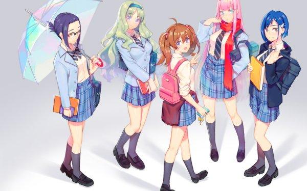 Anime Darling in the FranXX Zero Two Ichigo Ikuno Kokoro Miku HD Wallpaper | Background Image
