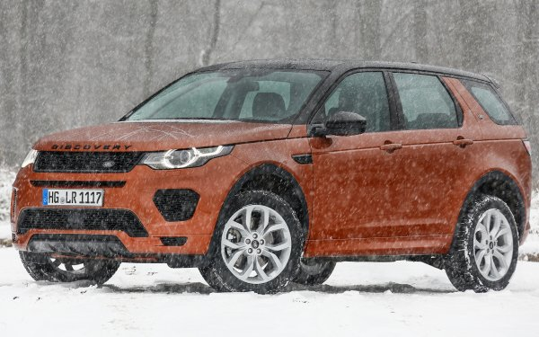 Vehicles Land Rover Discovery Sport Land Rover Land Rover Discovery Sport Dynamic Luxury Car Subcompact Car Crossover Car SUV Brown Car Car Snow HD Wallpaper | Background Image