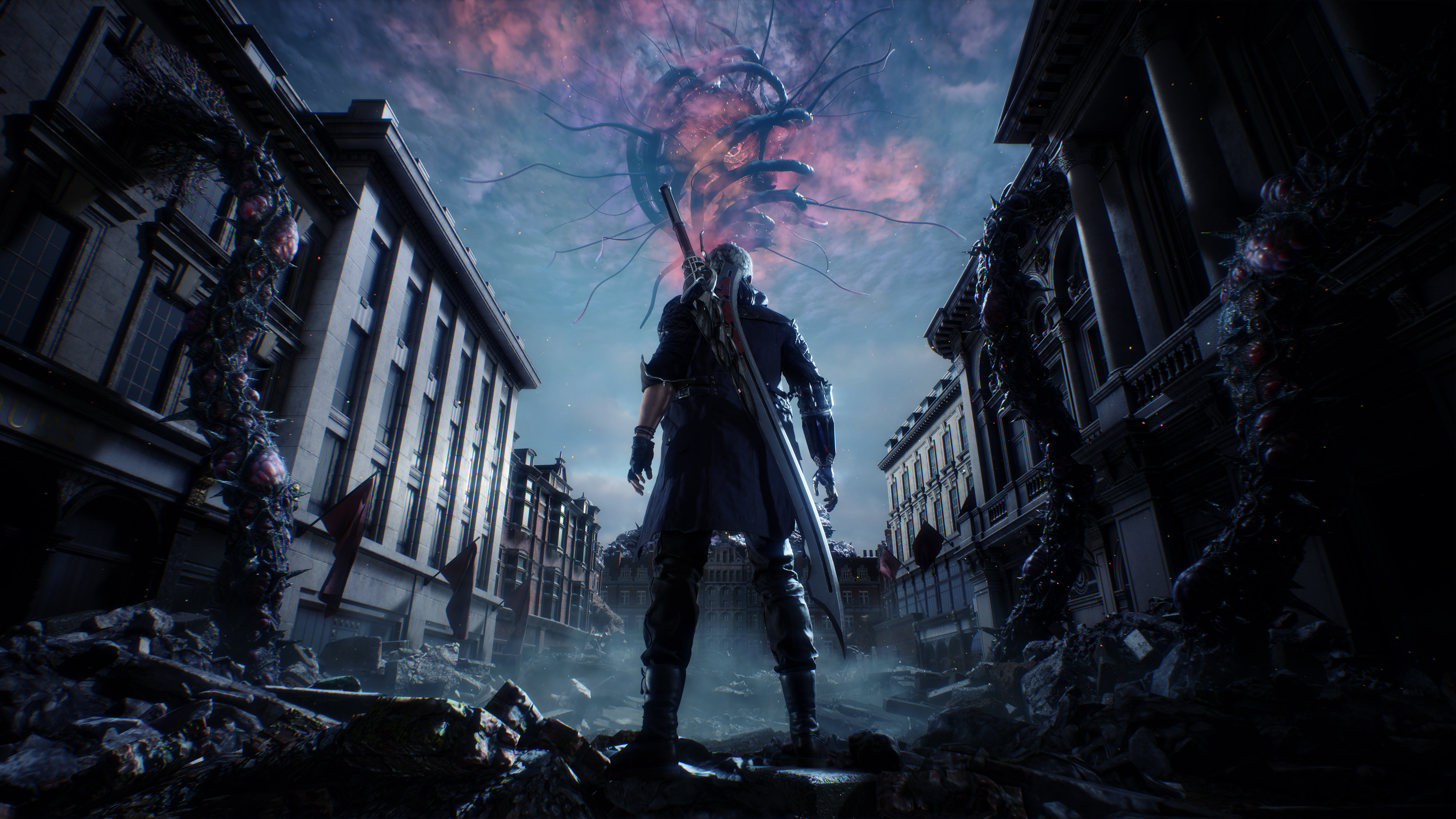 Devil may cry 5 4k ultra hd duvar ka d arka plan 3840x2160 id 928728 wallpaper abyss - Devil may cry hd pics ...