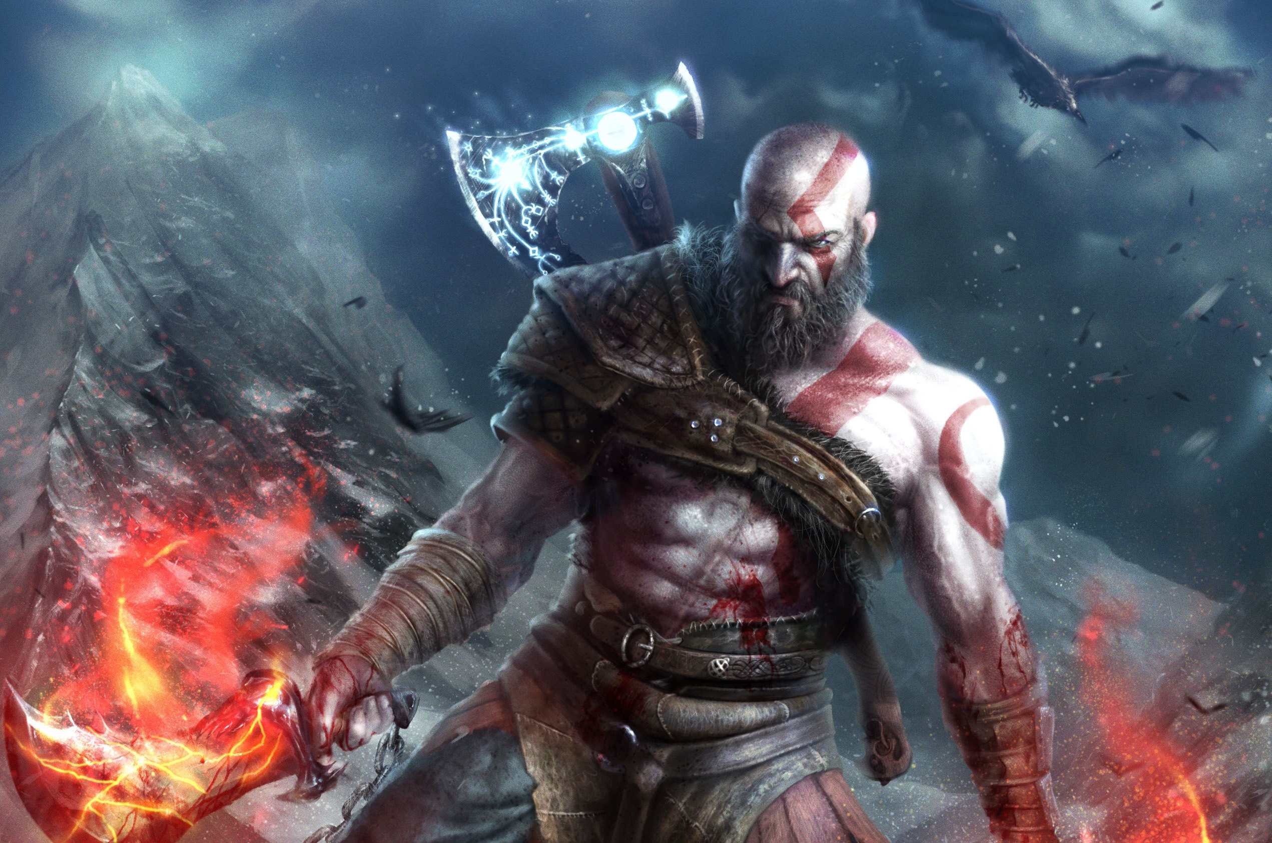 God Of War 2018 Hd Wallpaper Background Image 2542x1686 Id