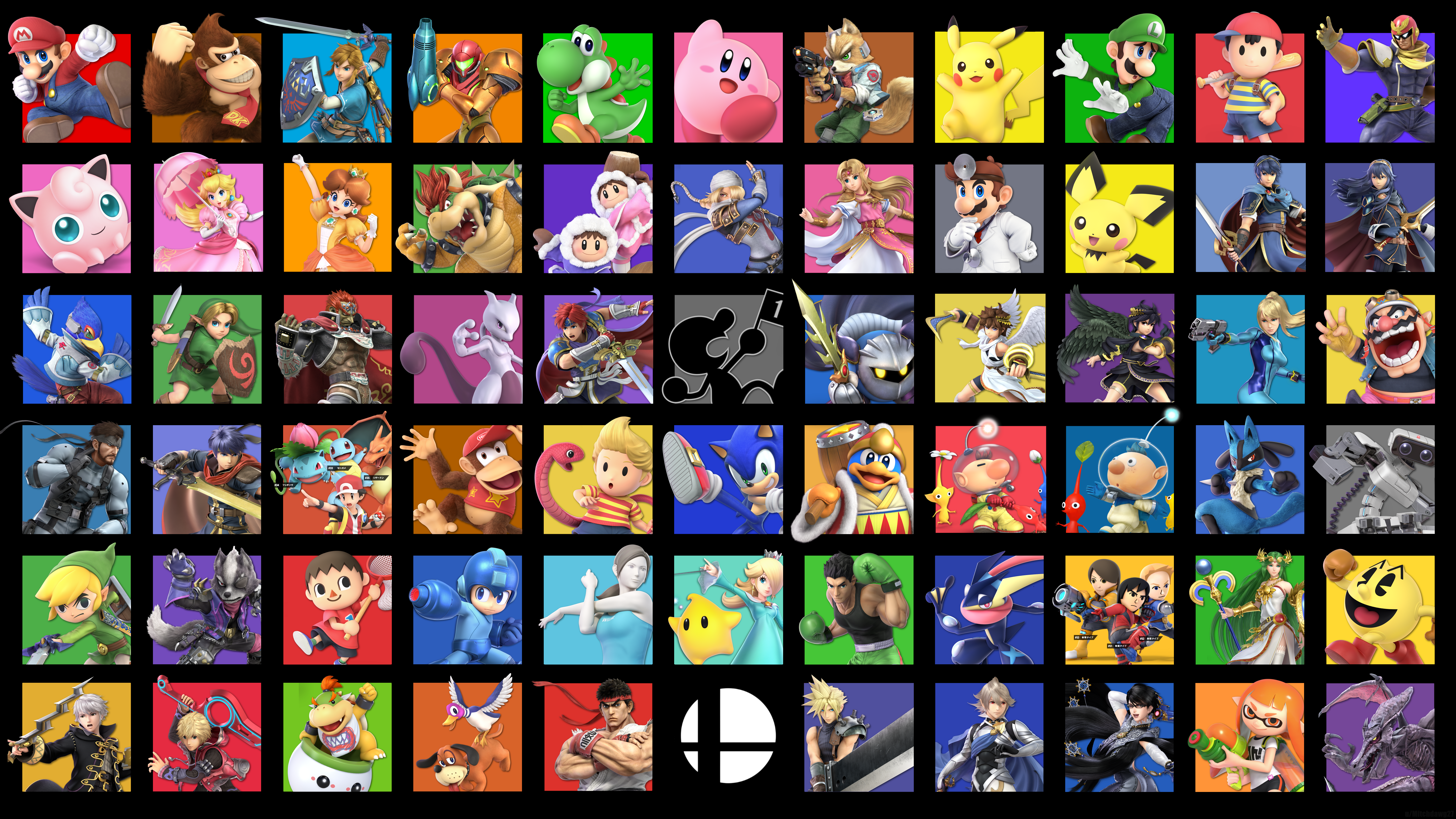 Super Smash Bros Ultimate Roster Wallpaper 5k Retina Ultra Hd
