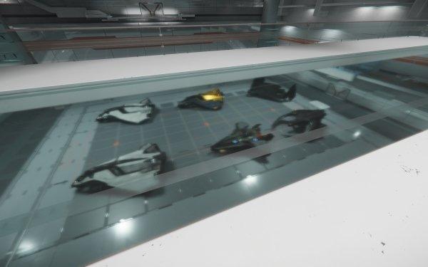 Video Game Star Citizen Avenger Avenger Titan Hurricane Eclipse Hangar Blade Blur HD Wallpaper | Background Image