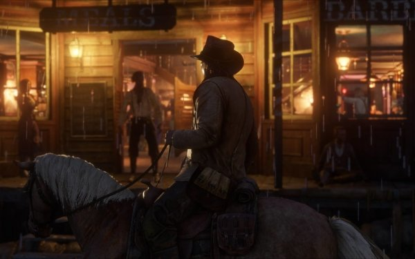 Video Game Red Dead Redemption 2 Red Dead Red Dead Redemption Western Cowboy Night Horse HD Wallpaper | Background Image
