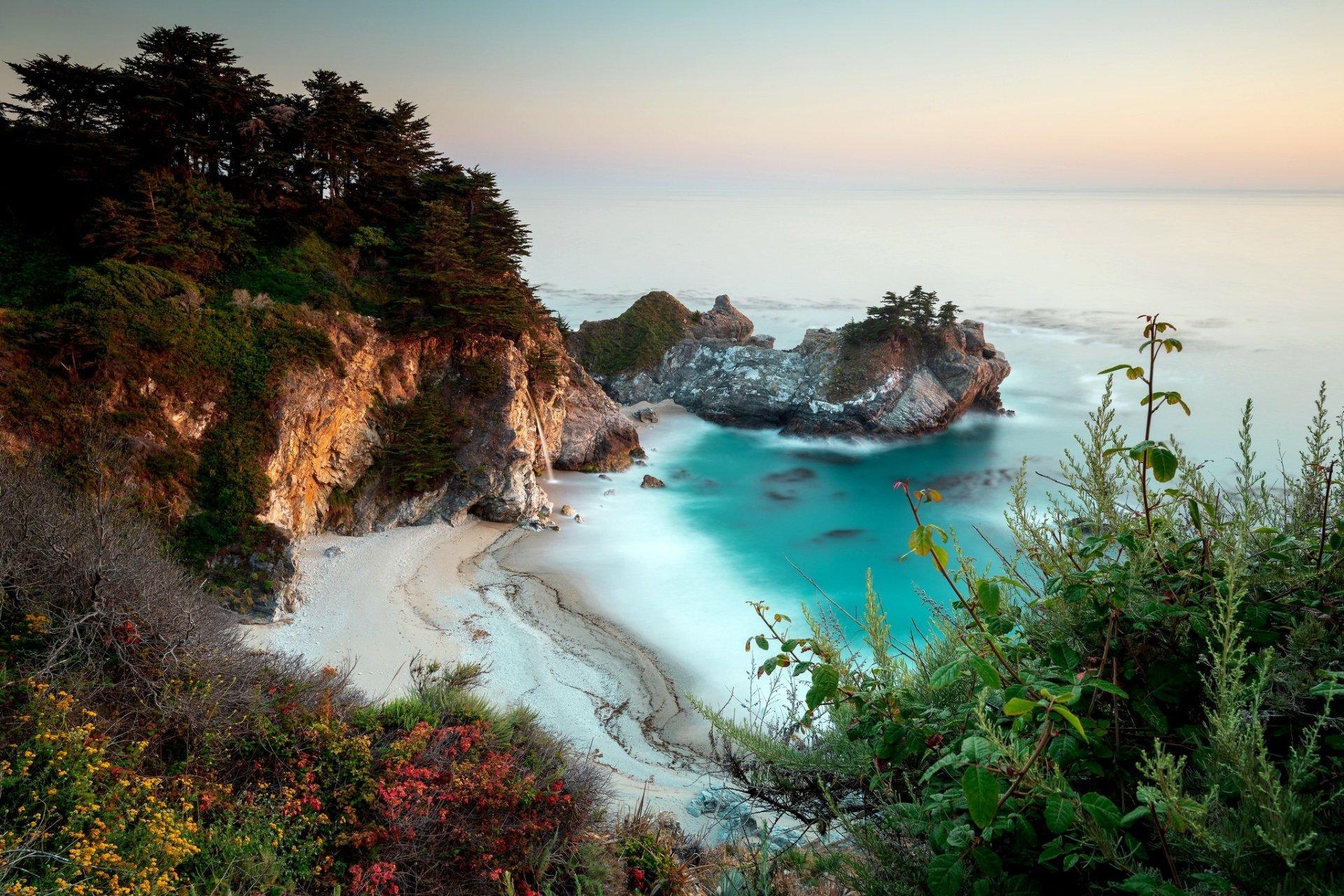 Earth - Beach  Nature Coast Ocean Horizon Cliff Wallpaper