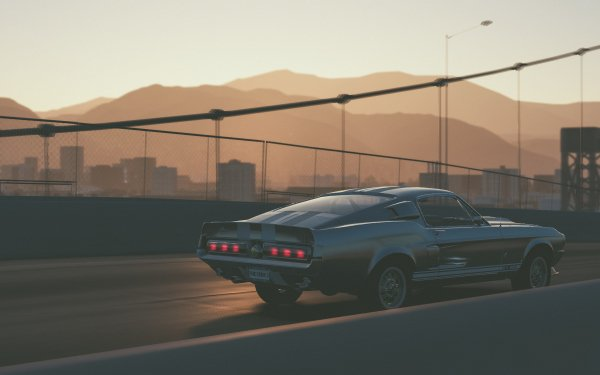 Video Game The Crew 2 Ford Mustang GT500 Bridge HD Wallpaper   Background Image