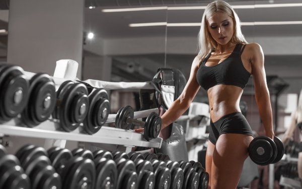 Women Weightlifting Blonde Fitness HD Wallpaper   Background Image