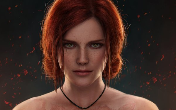 Video Game The Witcher 3: Wild Hunt The Witcher Triss Merigold Face Redhead Green Eyes HD Wallpaper | Background Image