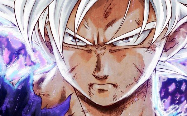 Anime Dragon Ball Super Dragon Ball Goku Ultra Instinct Man White Hair White Eyes Fond d'écran HD | Arrière-Plan