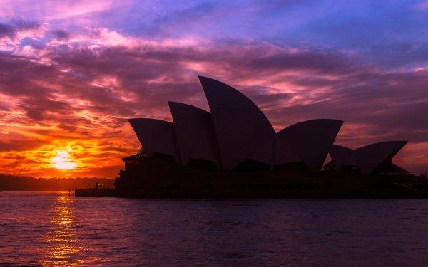 Man Made Sydney Opera House Australia Sunset Architecture Cloud Sydney HD Wallpaper | Background Image