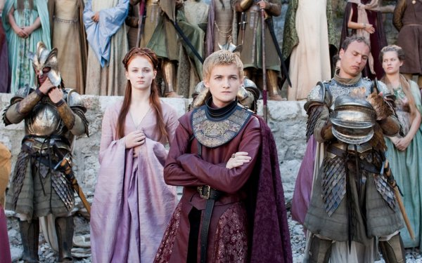 TV Show Game Of Thrones Joffrey Baratheon Sansa Stark Sophie Turner Jack Gleeson HD Wallpaper | Background Image