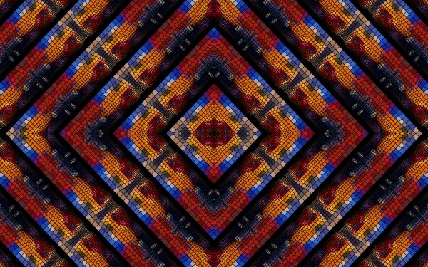 Abstract Kaleidoscope Artistic Colorful Colors Mosaic Pattern HD Wallpaper | Background Image