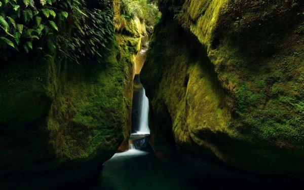 Earth Canyon Canyons Nature Rock Waterfall HD Wallpaper | Background Image