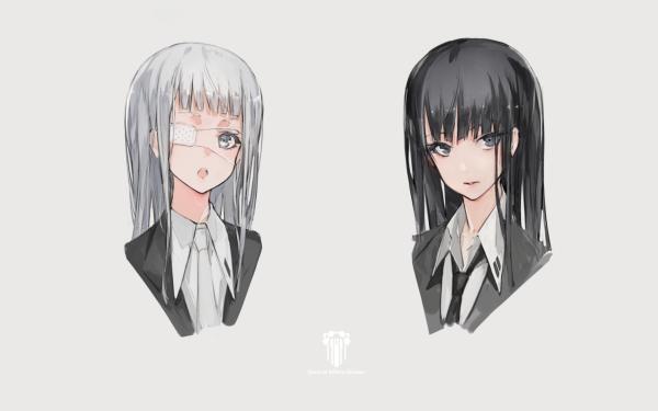 Anime Original Eye Patch Black Hair HD Wallpaper   Background Image