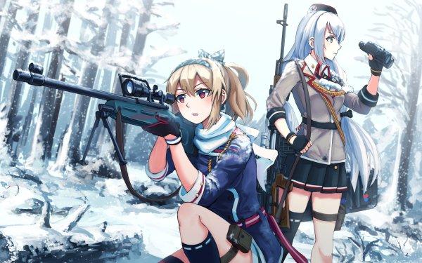 Jeux Vidéo Girls Frontline SV-98 SVD Fond d'écran HD | Image